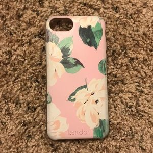 Pink floral iPhone 7 phone case
